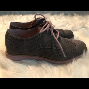 Cole Haan Lunargrand Wingtips Boots Gray Size 5.5B